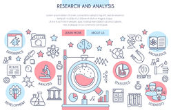 Research and Analysis banner Stock Image