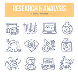 Research & Analysis Doodle Icons royalty free illustration