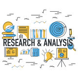 Research and Analysis Infographic elements for Business. Stock Photos