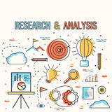 Research and Analysis Infographic elements for Business. Royalty Free Stock Images