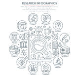 Research and Analysis Infographics Stock Images