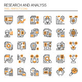 Research and Analysis. Thin Line and Pixel Perfect Icons Royalty Free Stock Photography
