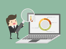 Research and analytics. Business concept cartoon illustration Royalty Free Stock Images