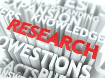 Research Background Design. Scientific Research Word Cloud Concept Royalty Free Stock Images
