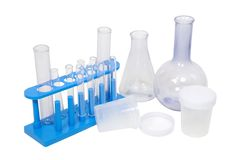 Research beakers Royalty Free Stock Photo