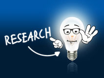 Research Bulb Lamp Energy Light blue Stock Image