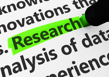 Research Business Concept Stock Photography