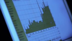 Research the business data chart from web,computer show financial digital. stock video footage