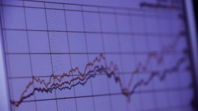 Research the business data wavy chart,computer show financial stock digital. Gh2_08033 stock footage