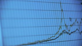 Research the business data wavy chart,computer show financial stock digital. Gh2_08037 stock footage