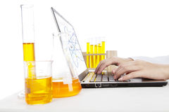 Research of chemical Royalty Free Stock Photo