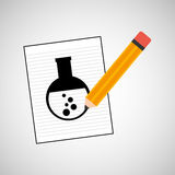 Research chemical test tube laboratory drawing icon Stock Images