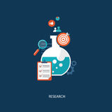 Research concept flat illustration Stock Photography