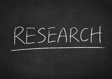 Research. Concept word on blackboard background royalty free stock images