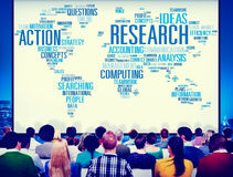 Research Data Facts Information Solutions Exploration Concept.  Royalty Free Stock Photos