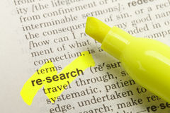 Research Defintion Stock Images