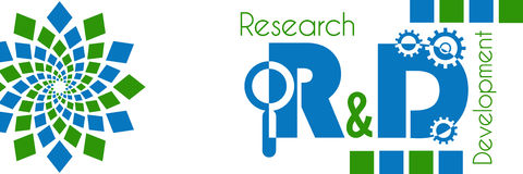 Research And Development Green Blue Royalty Free Stock Photography