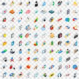 100 research development icons set. In isometric 3d style for any design vector illustration Royalty Free Stock Images