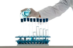Research Experiment with Test Tubes Stock Photos