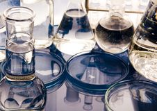 Research and experiments stock photography