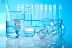 Research and experiments, bright modern chemical concept.  Royalty Free Stock Image