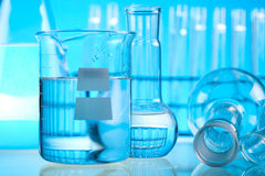 Research and experiments, bright modern chemical concept Royalty Free Stock Photography