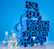 Research and experiments, Chemistry formula. Chemistry,Research and experiments, Laboratory glassware Royalty Free Stock Image