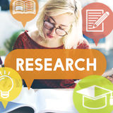 Research Feedback Knowledge Explanation Concept Stock Image