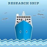 Research or fisherman nautical vessel. vector illustration