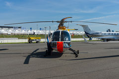 Research helicopter German Aerospace Center DLR - Eurocopter BO 105. BERLIN, GERMANY - MAY 21, 2014: Research helicopter German Aerospace Center DLR - Eurocopter stock photos