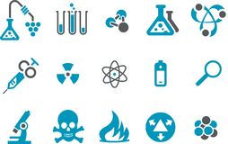 Research icon set Royalty Free Stock Images