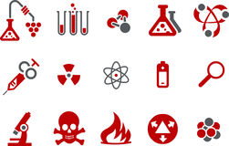 Research icon set Stock Images