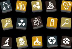 Research icon set Royalty Free Stock Photo
