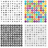 100 research icons set vector variant. 100 research icons set vector in 4 variant for any web design isolated on white stock illustration