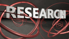 Research illustration. 3D text Research illustration and abstract background Stock Image