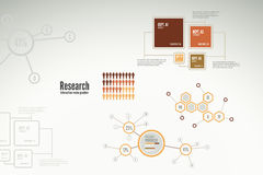 Research infographics for business. Research infographics with charts and diagrams for business reports Royalty Free Stock Photos