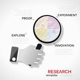 Research infographics Royalty Free Stock Photo