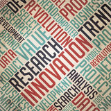 Research Innovation - Vintage Wordcloud. Royalty Free Stock Image
