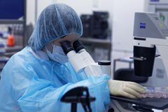 Research laboratory of biotechnology company BIOCAD stock photography
