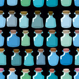 Research laboratory bottles seamless pattern. Vector background Stock Photos
