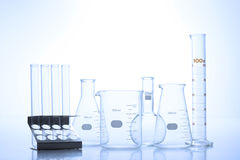 Research laboratory glassware Stock Photography