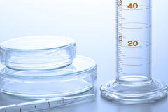 Research laboratory glassware Stock Photos