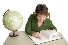 Research in Library Royalty Free Stock Image