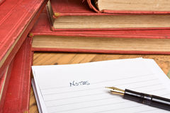 Research note Royalty Free Stock Photo