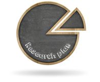 Research plan and pie chart shape blackboard Royalty Free Stock Photography