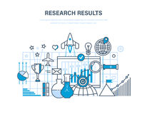 Research results. Marketing research, data analysis, statistics of indicators. Research results concept. Marketing research, data analysis, analysis and Stock Photography