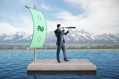 Research and rich concept stock image