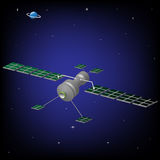 Research satellite. Launched in space for research and observation Royalty Free Stock Photos