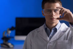 Research and science doctor wearing glasses. Stock Photography