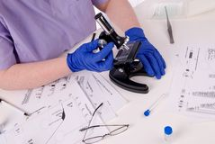 Research science laboratory woman Stock Photography